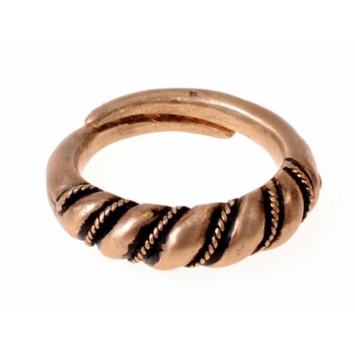 Vikingo anillo Danelaw, bronce