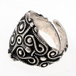 Gaulish ring La Tene, silvered