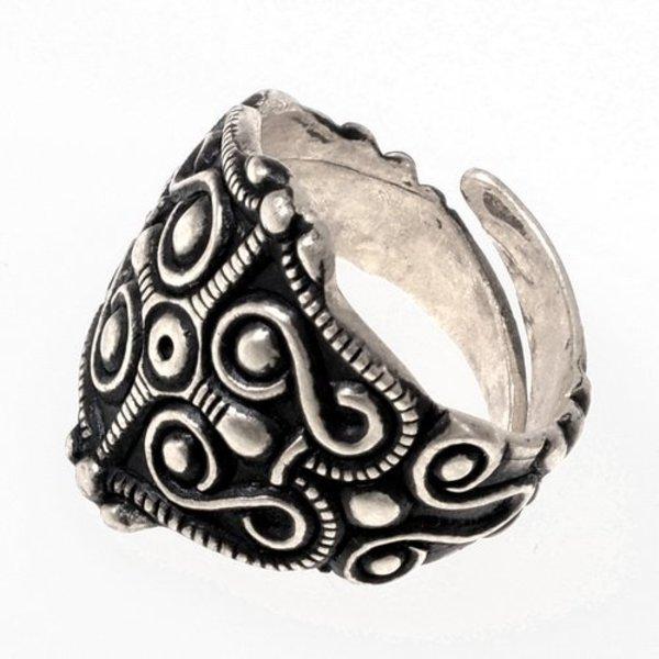 Gallische ring La Tene, verzilverd