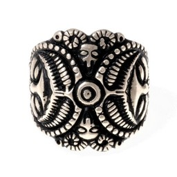 Celta anillo de La Tene, plateado