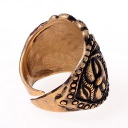 Celtic La Tene ring, försilvrade