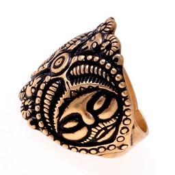 Celtico anello La Tene, argentato