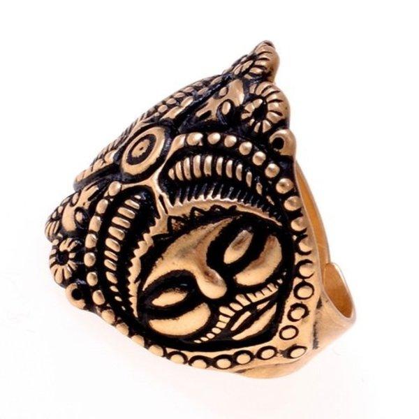 Celtic La Tene ring, silvered