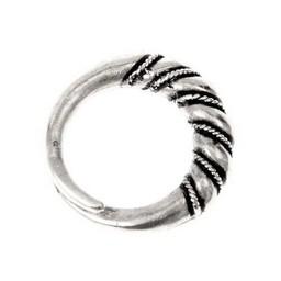 Vichingo anello Wolin, argentato