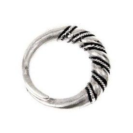 Viking ring Wolin, silvered