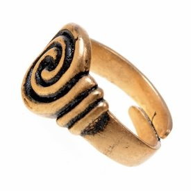Angelsaksische ring 7de-8ste eeuws, verzilverd