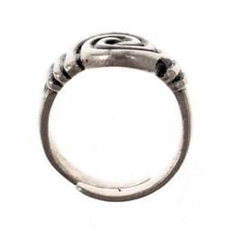 Anglosaski pierścień na 7. 8. wiek, posrebrzane
