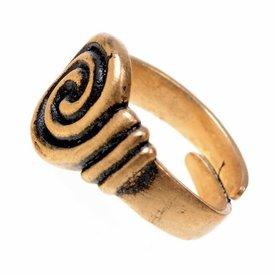 Anglosajona anillo 7 y 8 de siglo, bronce