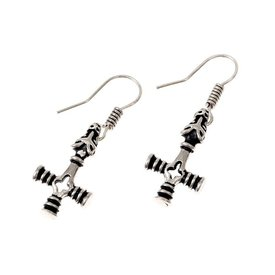 Earrings Icelandic Thor's hammer, silvered
