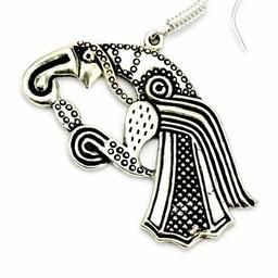 Earrings Germanic raven, silvered