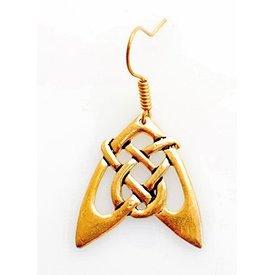 Boucles d'oreilles flèche celtique, bronze