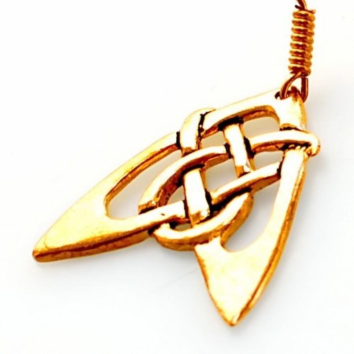 Oorbellen Keltische pijl, brons