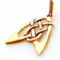 Earrings Celtic arrow, bronze