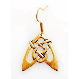Earrings Celtic arrow, silvered