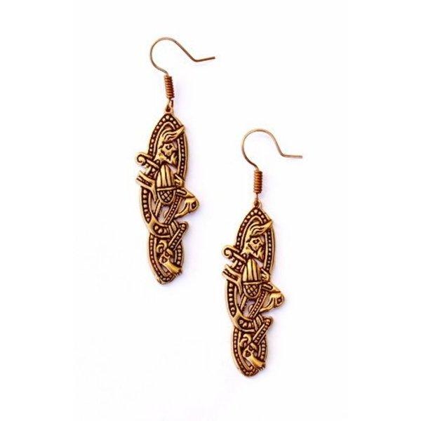 Gamle irske øreringe, bronze