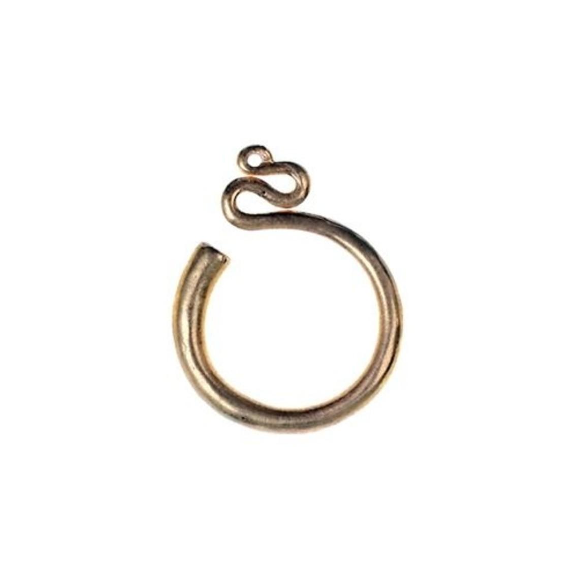 anillos templo eslavos, S, bronce