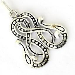 Viking kolczyki wąż Midgardu, posrebrzane