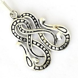 Viking örhängen Midgard ormen, försilvrade