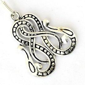 Viking øreringe Midgård slange, forsølvede