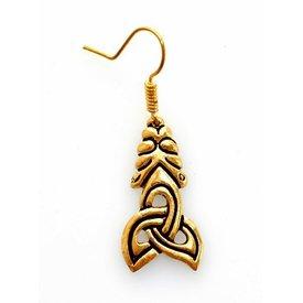 pendientes viking estilo de Borre, bronce