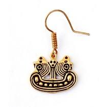 Boucles d'oreilles Bornholm bateau viking, bronze