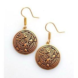 Vikingo pendientes Birka, bronce