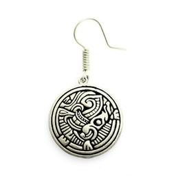 Viking earrings Birka, silvered bronze