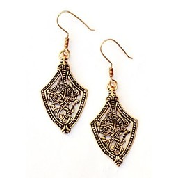 Viking earrings Borre style, bronze