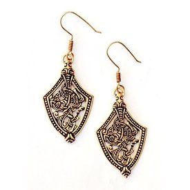 Viking earrings Borre style, bronze