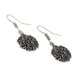 Earrings Viking knot, silvered