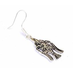Rusvik earrings Jaroslav, silvered