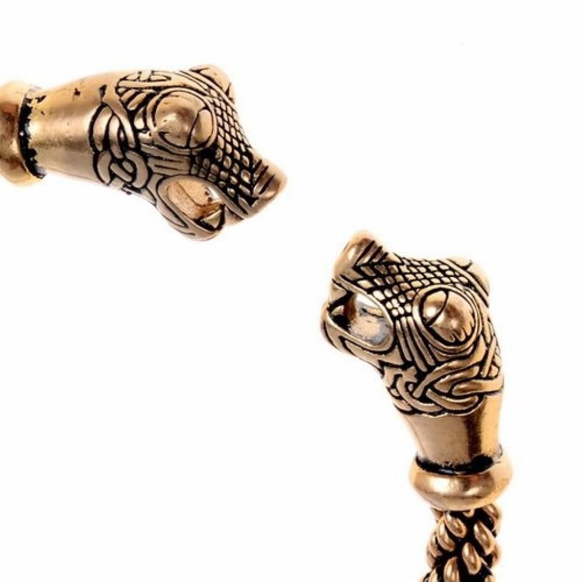 Oseberg de Viking pulsera S, bronce