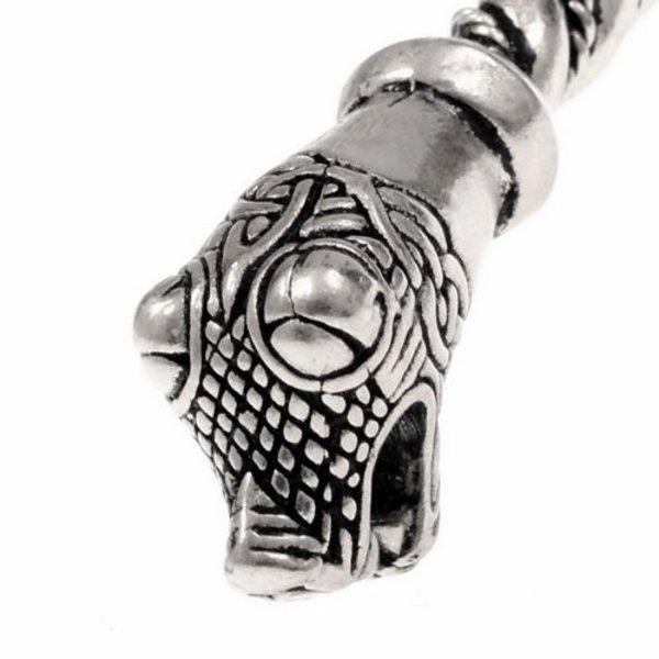 Oseberg Viking armband L, försilvrad