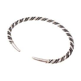 Vikingarmband Halsingland, verzilverd