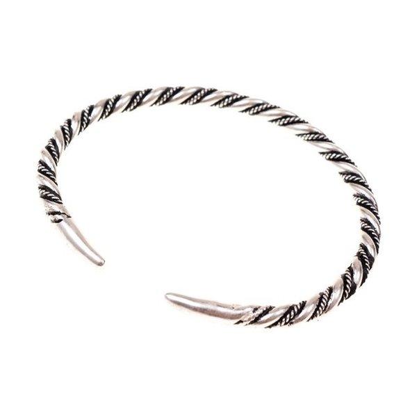 Vichingo braccialetto Halsingland, argentato