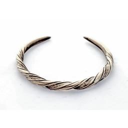 Viking bransoletka Danelaw, posrebrzane