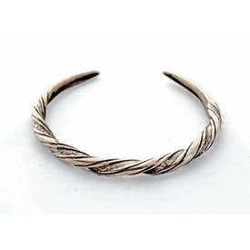 Vikingo pulsera Danelaw, plateado