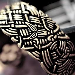 Ampia vecchio braccialetto d'Irlanda, bronzo