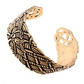 Brede Oud-Ierse armband, brons