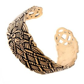 Wide Old Irish bracelet, bronze