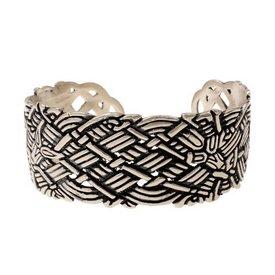 Brede Oud-Ierse armband, verzilverd