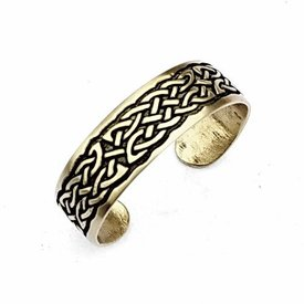 Keltische armband met knoopmotief, verzilverd