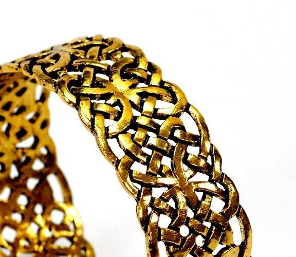 Celtic bracelet Book of Kells, bronze