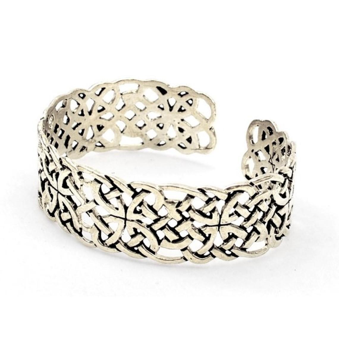 Celtic bracelet Book of Kells, silvered