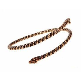 Vichingo braccialetto superiore con teste di lupo, bronzo