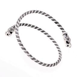 Viking övre armband Gotland, försilvrade