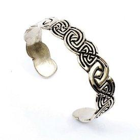 Celtic bracelet Clontarf, silvered