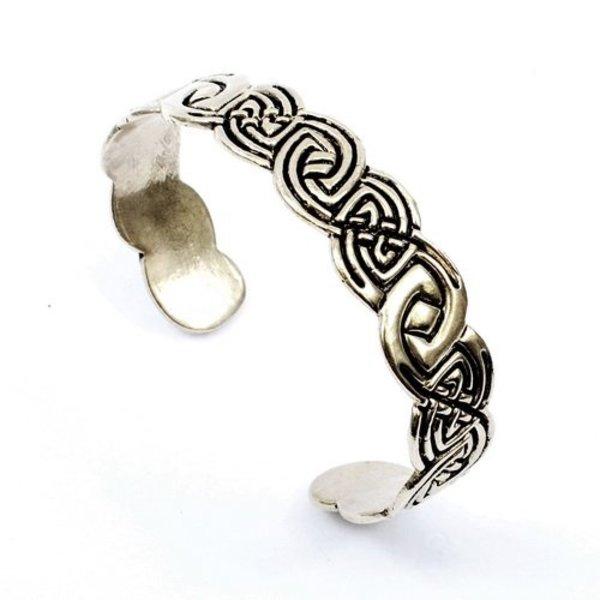 Keltische armband Clontarf, verzilverd