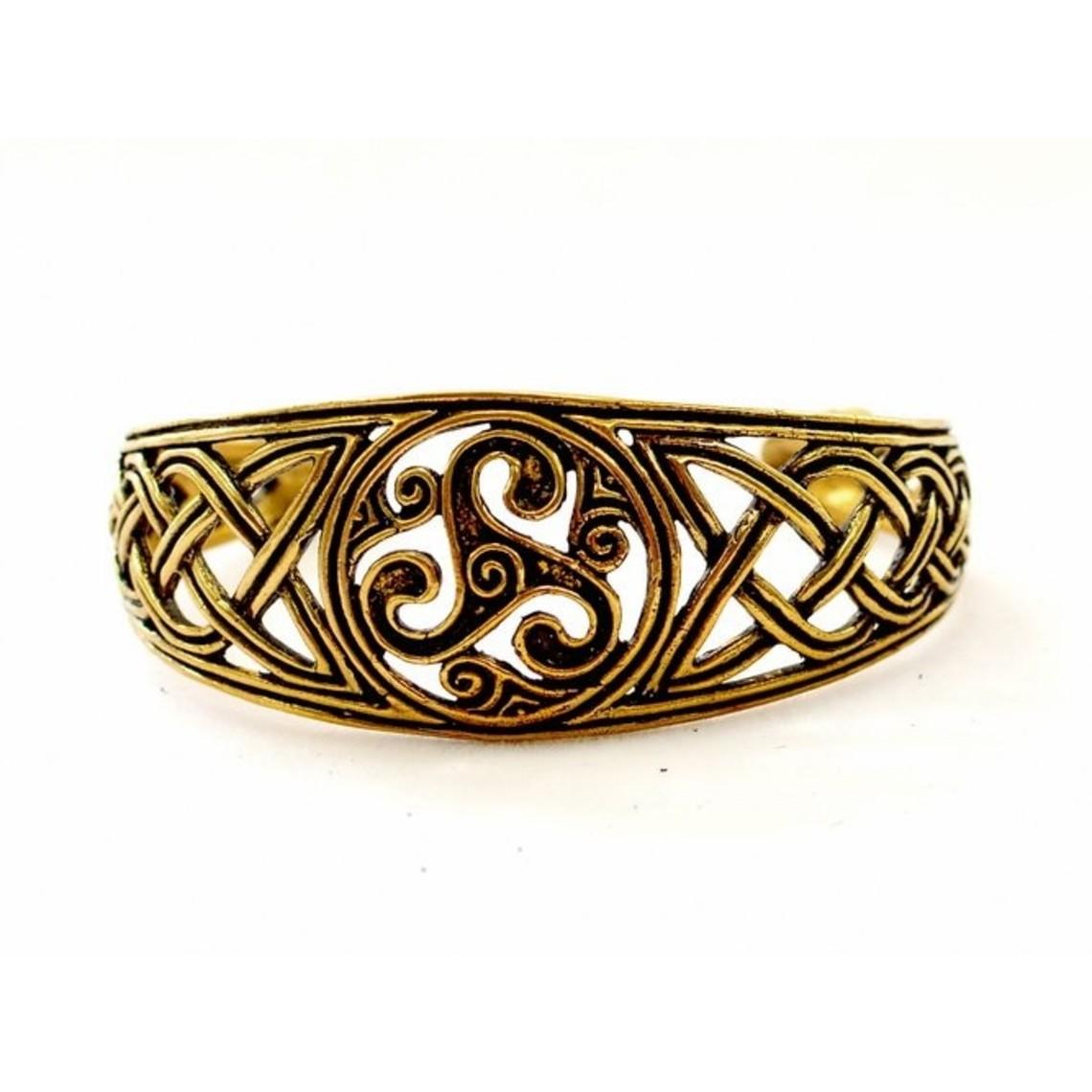 pulsera celta con trisquelion, bronce