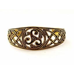Celtic Armband mit trisquelion, Bronze